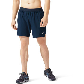 "asics Road 2-N-1 7"" Shorts Heren, french blue/french blue"